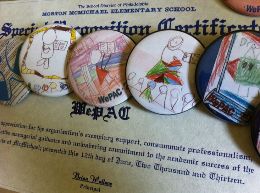 Special Recognition Certificate & WePAC Volunteer Thank-You Pins